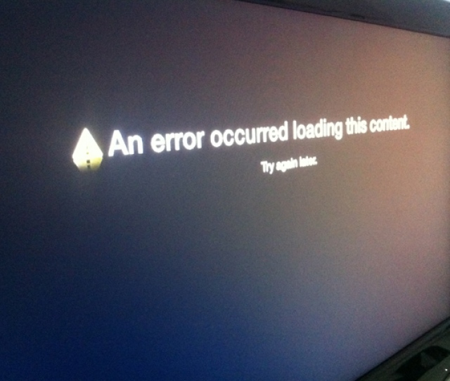 An Error Occurred Loading This Content Apple Tv Second Generation Press Any Key