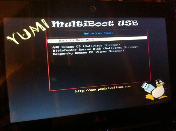 how to create multiboot usb using yumi