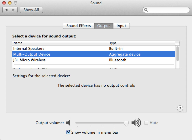 Simultaneously Pushing Audio to External Speakers and Bluetooth from